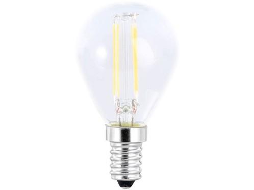 Ampoule Goutte LED à filament A++, E14, 3,5 W, 360 lm, 360°, Blanc chaud