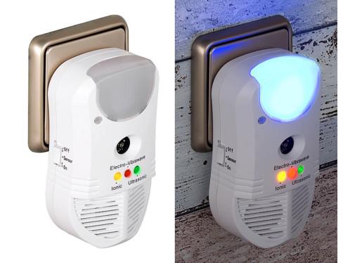 Anti-nuisible à ultrasons 3 en 1 avec fonctions veilleuse à LED et purificateur