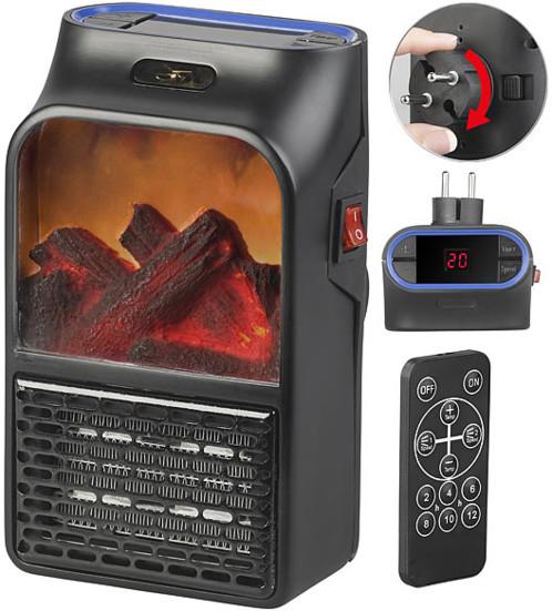 Mini chauffage soufflant télécommandé 500W sur prise secteur - LV-255.LED