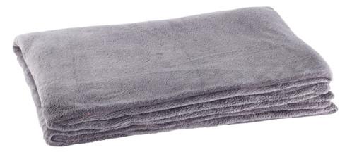 couverture en microfibre gris 200 cm en polyester wilson gabor