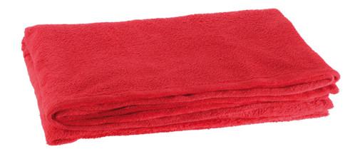 couverture en microfibre rouge 240 cm en polyester wilson gabor