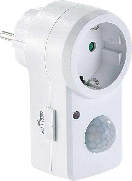 Prise lectrique avec report et d tecteur de mouvement infrarouge - Prise detecteur de presence ...