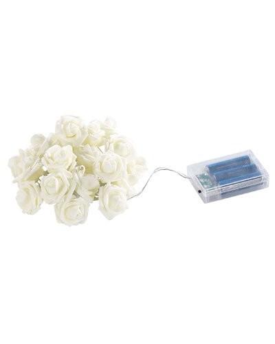 Guirlande d 39 int rieur 39 roses lumineuses 39 20 led blanc - Guirlande lumineuse d interieur ...