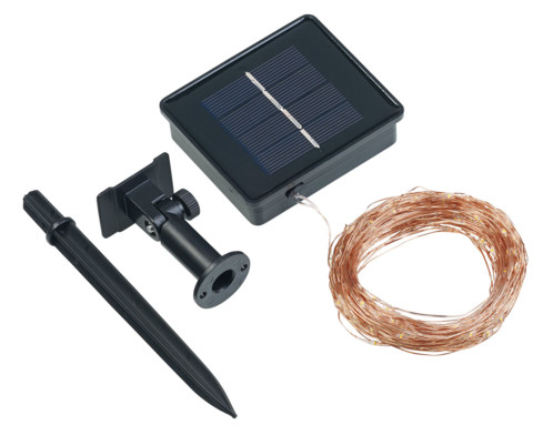 Guirlande lumineuse solaire 20 m en fils de cuivre à 200 LED
