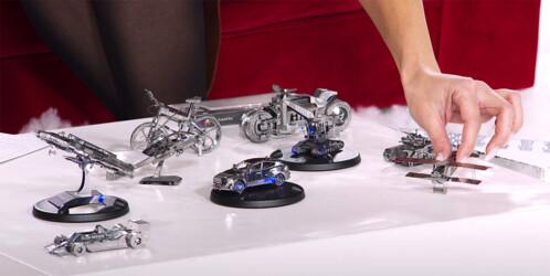 maquette puzzle 3d en métal à monter soi meme pour enfants et adultes pelleteuse voiture bateau avion helicoptere idee cadeau de noel