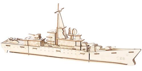 Maquettes 3D en bois : Destroyer - 83 pièces