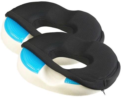 Pack de 2 coussins d'assise ergonomiques en mousse à mémoire de forme avec gel