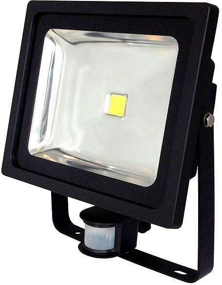 Projecteur étanche à LED avec capteur PIR Noir - 50 W