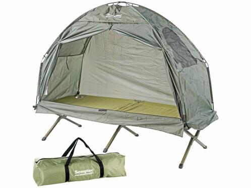 Tente 2en 1 avec lit de camp pour 1 personne