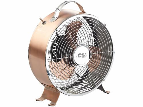 Ventilateur de table 20 W en métal - design rétro