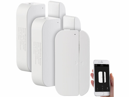 3 détecteurs d'ouverture de porte/fenêtre connectés