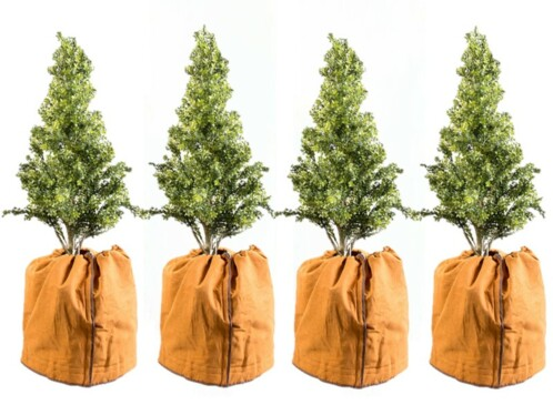 4 housses d'hivernage pour pot 50 x 45cm