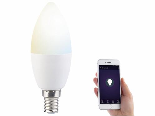 """Ampoule à LED connectée E14 Blanc réglable """"LAV-90.w"""""""