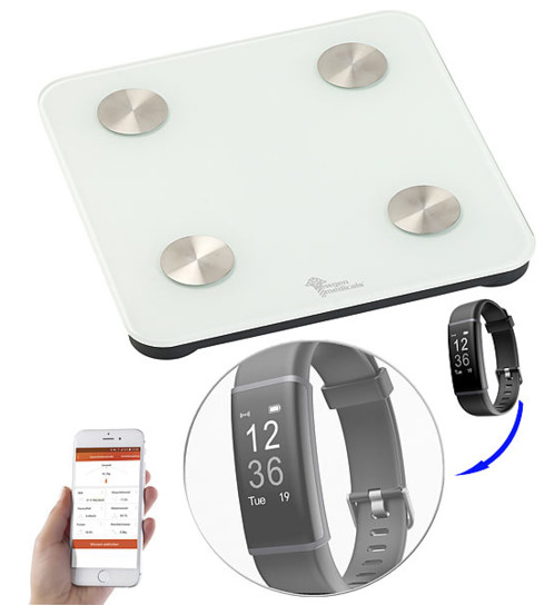 Balance impédancemètre connectée 7 en 1 - Avec montre FBT-50.HR.proV4