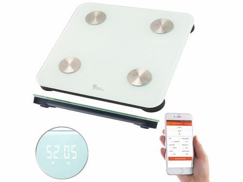 balance pese personne en verre connectée avec application de suivi du poids et conseils metabolisme google fit apple healtg newgen medicals