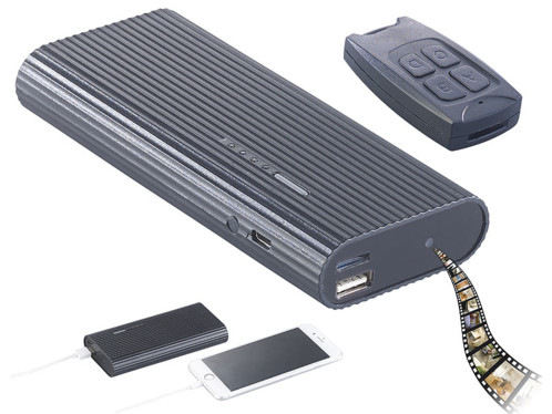 Batterie d'appoint 2 en 1 6000 mAh /1 A avec caméra intégrée Full HD et vision nocturne