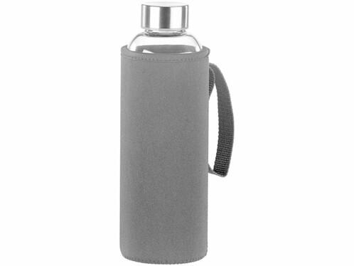 Bouteille en verre borosilicate 750ml sans BPA avec housse