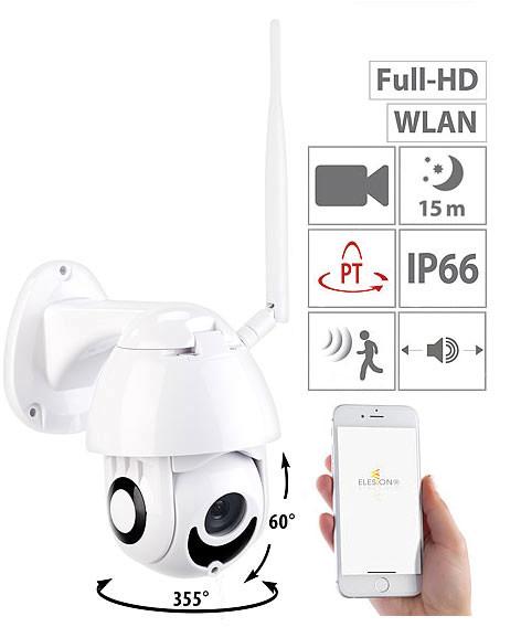 Caméra de surveillance d'extérieur IP Full HD connectée avec vision nocturne, compatible Echo Show I