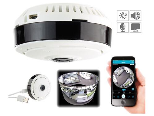 camera de surveillance avec vision à 360 sans angle mort avec controle par appli ipc-510 7links