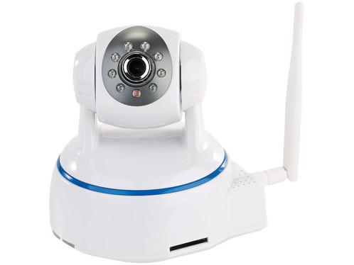 mini caméra de surveillance full hd avec tête orientable à 350° et vision nocturne ipc-380 7links