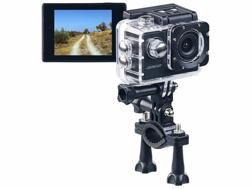 Caméra sport HD DV-1212 V2 avec boîtier étanche jusqu'à 30 m et fonction Webcam