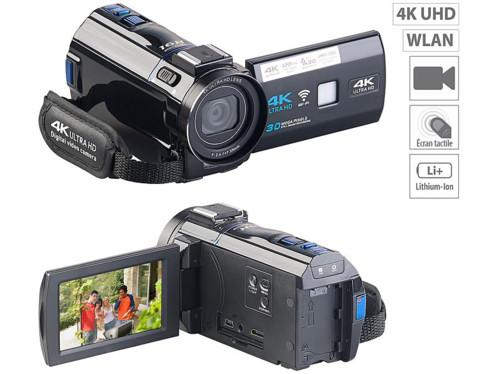 camera camescope de poing 4k uhd full hd pour amateurs et professionnels dv880 somikon avec application