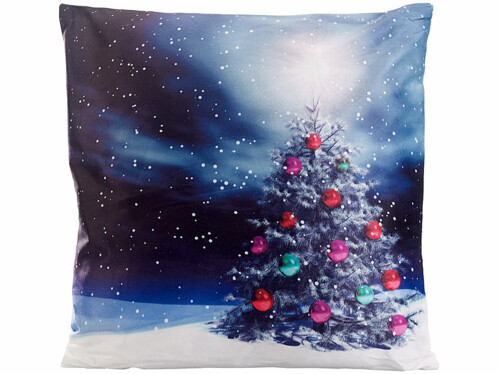 """Coussin lumineux décoratif """"Sapin de Noël"""" 40x 40cm"""
