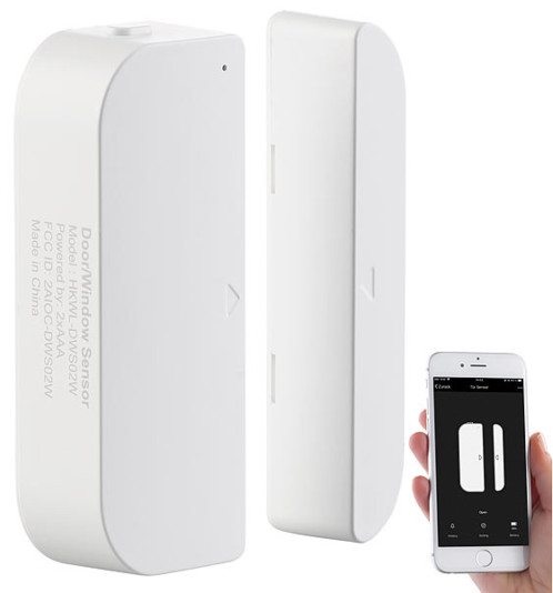 detecteur d'ouverture porte fenetre wifi avec application ios iphone android infraction