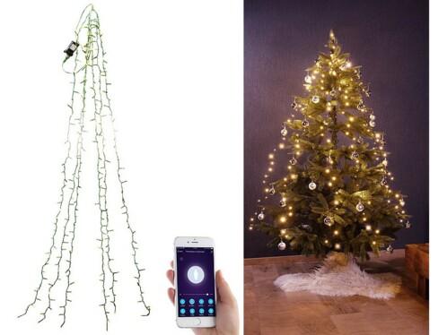 Guirlande connectée pour sapin de Noël avec 6 fils et 180 LED
