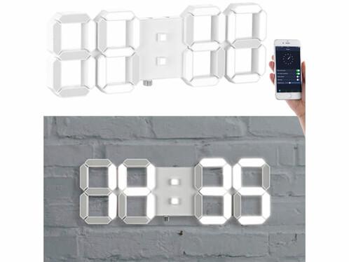 Horloge LED connectée à intensité variable avec réveil