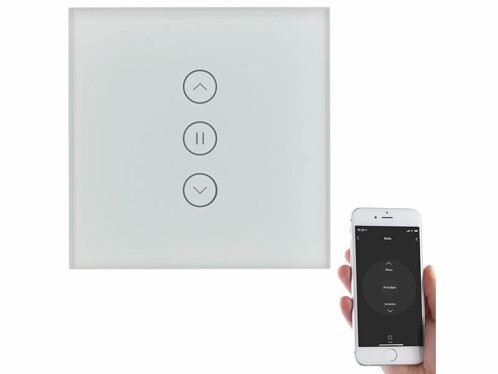 Interrupteur tactile connecté encastrable pour volet électrique avec commande vocale
