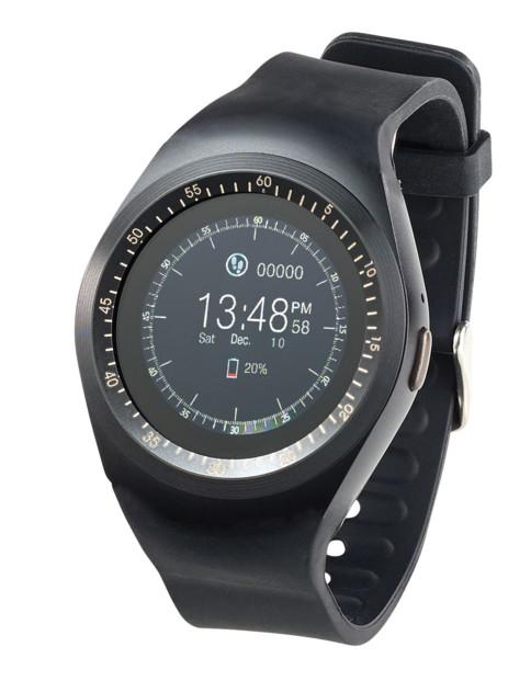 smartwatch ronde style veritable montre avec port sim et fonctions fitness simvalley pw-410