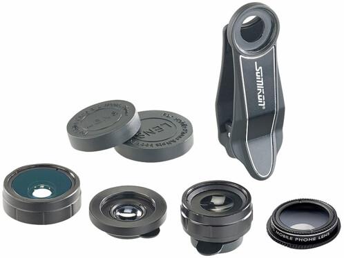 Pack de 4 lentilles pour smartphone / iPhone