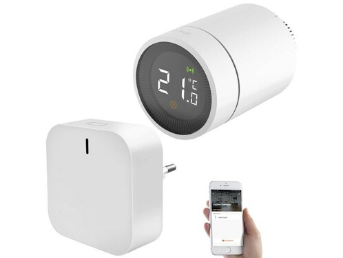 Thermostat connecté pour radiateur avec passerelle wifi ZigBee.