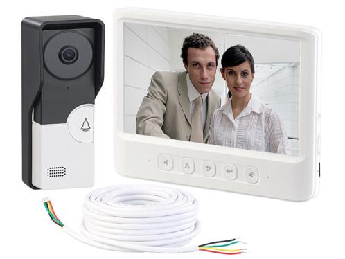 Visiophone avec grand écran couleur et ouvre-porte VSA-600.rec - Avec câble 10m