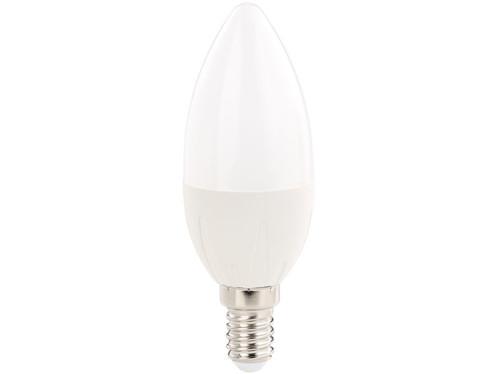 Ampoule bougie LED E14 B35 480 lm 270° A+ 6 W blanc chaud luminea