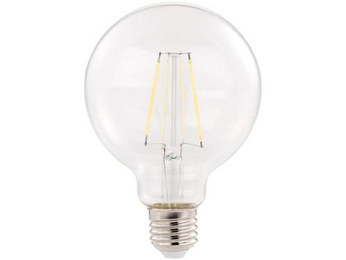 ampoule led ronde forme bulbe avec filaments style classique 6w a++ luminea