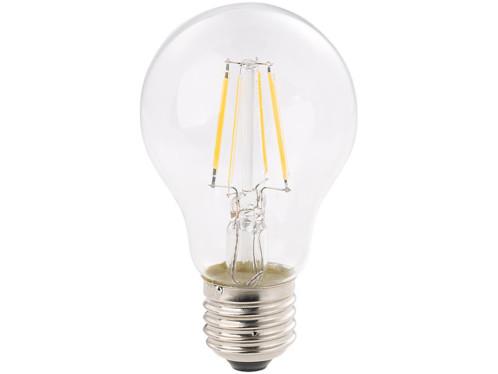 Ampoule LED à filament format goutte E27 4W 470 lm 360° -  blanc chaud
