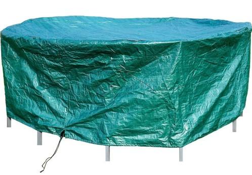 B che tanche pour meuble rond format cylindre 2 6 m avec cordon - Bache de protection jardin ...