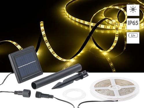 Bande à LED solaire 180 LED 3 m - Blanc chaud