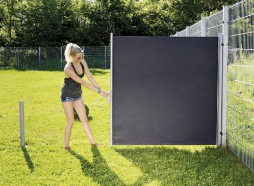 store pare vent d roulable pas cher 180 x 300 cm gris ou beige. Black Bedroom Furniture Sets. Home Design Ideas
