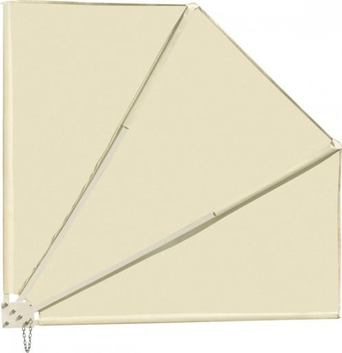 Brise-vue pour balcon 140 x 140 cm, beige