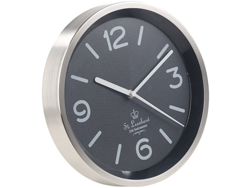 Horloge murale à quartz avec éclairage automatique du cadran - Noir