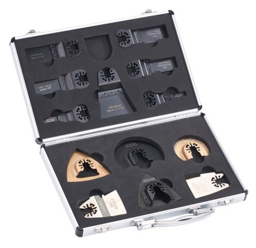 pack de 13 accessoires pour outils multifonction avec scies plateau de poncage meuleuse AGT