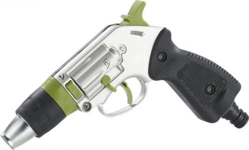 Pistolet d 39 arrosage forme revolver en m tal avec jet - Pistolet d arrosage ...
