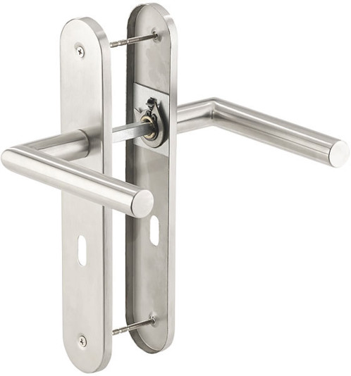 Poignée de porte à plaque longue en acier inoxydable