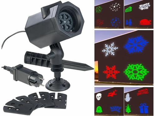 Projecteur LED RVBB indoor/outdoor 4,6 W avec 5 motifs lumineux (reconditionné)