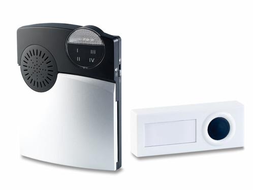 Récepteur radio portable pour système d'alarme avec sonnette