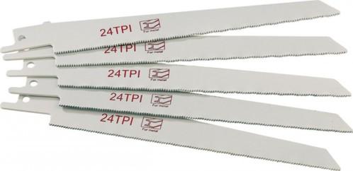 Set de 5 lames métal pour scie sabre AGT AW-18.sl