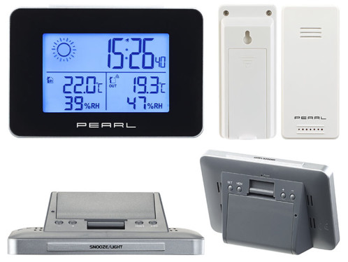 mini station meteo digitale avec capteur pour temperature et humidité intérieur et extérieur pearl